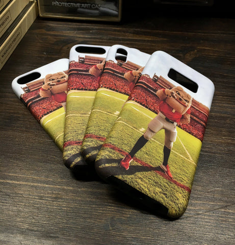 UGA Georgia Bulldogs: Phone Case - iPhone 6 / 7 / 8 / X & Galaxy S8 - Hairy Dawg Mascot