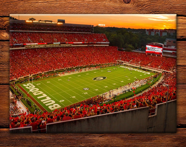 "UGA Georgia Bulldogs Fridge Magnet - Sanford Stadium 2.5""x3.5"" Premium Tin Photo Party Gift for Graduation, Football Fans, Student & Alumni"