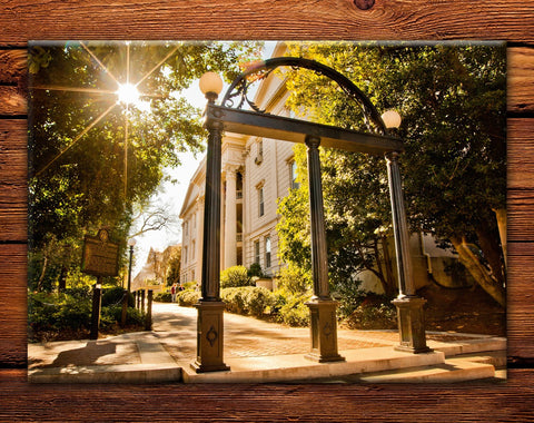 "UGA Georgia Bulldogs Fridge Magnet - Campus Arch 2.5""x3.5"" Premium Tin Photo Gift"