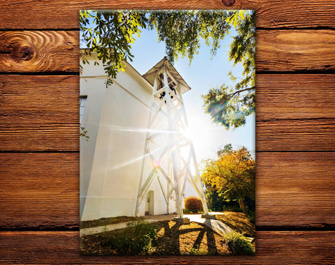 "UGA Georgia Bulldogs Fridge Magnet - Chapel Bell 2.5""x3.5"" Premium Tin Photo Gift"