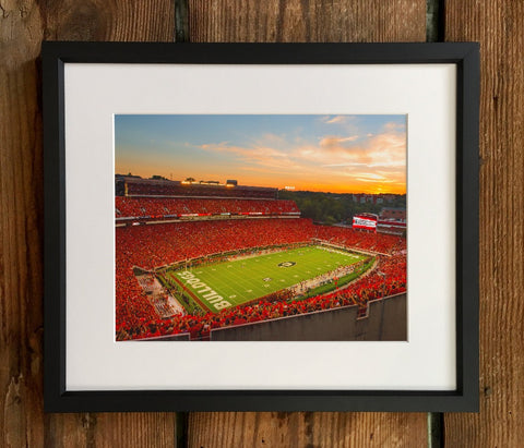 UGA Georgia Bulldogs Art: Sanford Stadium Redout Photo Print / Fine Art Print / Canvas Wrap