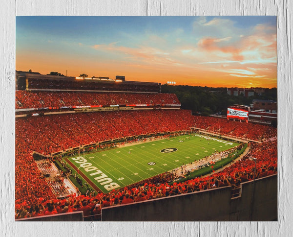 UGA: Sanford Stadium Redout Photographic Print - Georgia Bulldogs Art