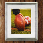 UGA Georgia Bulldogs Art: Football Game Ball Photo Print / Fine Art Print / Canvas Wrap