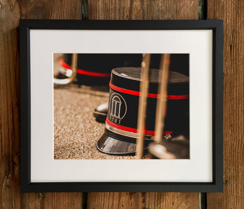 UGA Georgia Bulldogs Art: Redcoat Marching Band Shako Photo Print / Fine Art Print / Canvas Wrap