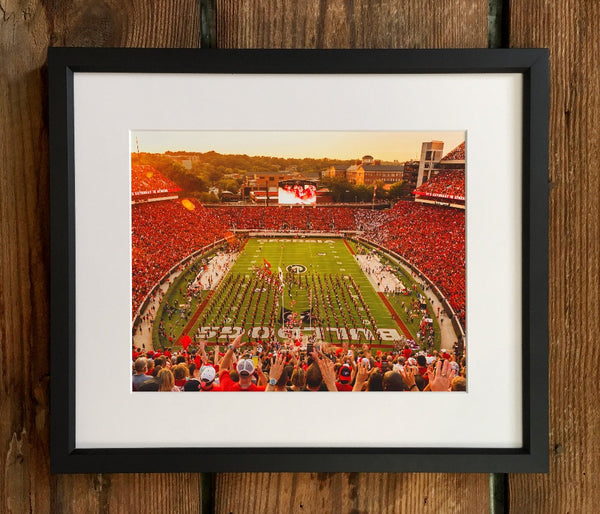 "UGA: ""Saturday in Athens"" 2017 Sanford Stadium Photo Print / Canvas Wrap - Georgia Bulldogs Art"