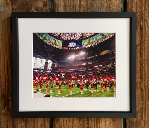 UGA Georgia Bulldogs Art: 2017 SEC Championship Recoats in the 'Benz Photo Print / Canvas Wrap