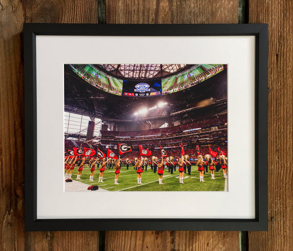 UGA: 2017 SEC Championship Recoats in the 'Benz Photo Print / Canvas Wrap - Georgia Bulldogs Art