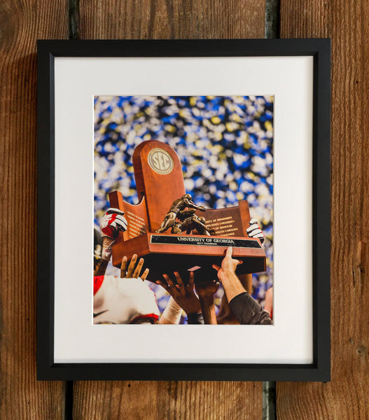 UGA: 2017 SEC Championship Trophy Photo Print / Canvas Wrap - Georgia Bulldogs Art