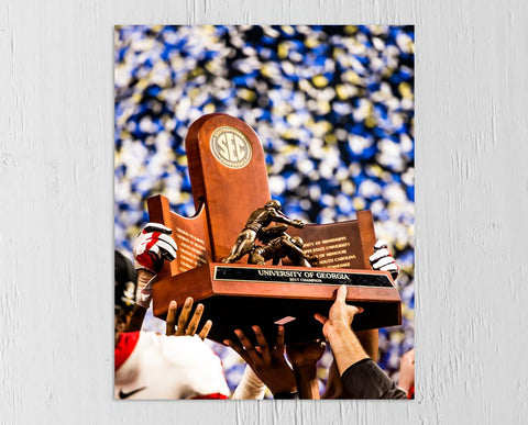 UGA Georgia Bulldogs Art: 2017 SEC Championship Trophy Photo Print / Canvas Wrap