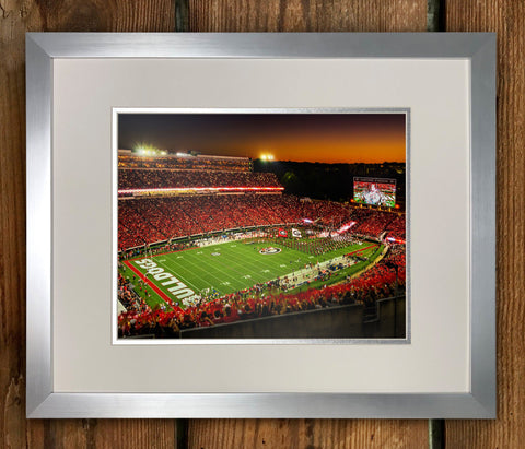 Georgia vs Notre Dame Limited Edition Framed Print