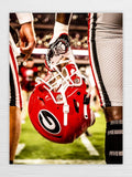 UGA Georgia Bulldogs Art: Power G Helmet Dawgs vs Notre Dame Photo Print / Canvas Wrap