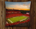 UGA: Georgia Bulldogs Sanford Stadium Redout Throw Pillow - Indoor/Outdoor for Tailgate, Patio, Dawg Cave, Home Decor