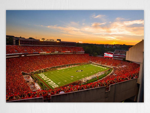 UGA: Sanford Stadium Redout Art Poster Print - Georgia Bulldogs Art