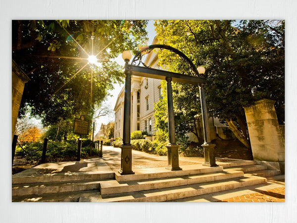 UGA: Campus Arch Art Poster Print - Georgia Bulldogs Art