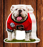 "UGA Georgia Bulldogs Sticker - Uga X Mascot - 4.25"" Die Cut Vinyl Photo Decal Photo Graduation Gift"