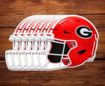 "UGA Georgia Bulldogs Sticker 6-Pack - Football Helmet - 2.75"" Die Cut Vinyl Photo Decal Gift Wrap"