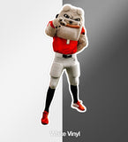 UGA Georgia Bulldogs Stickers - Hairy Dawg - Die Cut Vinyl Photo Decal For Laptop, Cooler & More