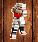 "UGA Georgia Bulldogs Stickers - Hairy Dawg Mascot - 5.25"" Die Cut Vinyl Photo Decal For Laptop, Cooler & More"