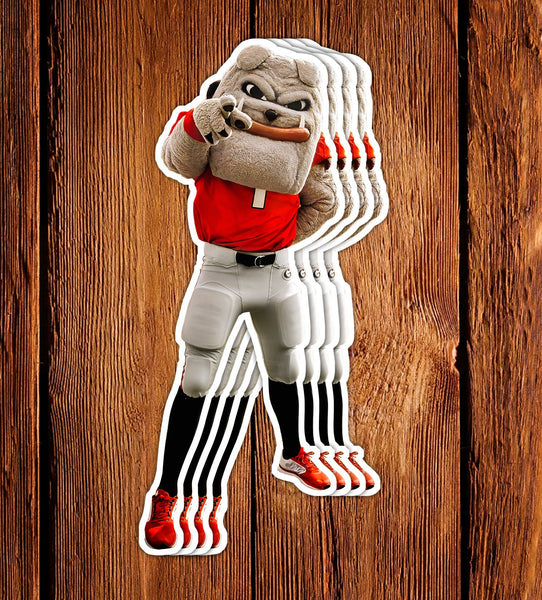 UGA Georgia Bulldogs Stickers - Hairy Dawg Mascot - Die Cut Vinyl Decal w/ Premium Photos - Gift for Kids, Student, Alumni & Fan
