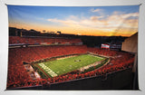 UGA Georgia Bulldogs Art: Sanford Stadium Redout Tapestry Poster Wall Art Photo - 2XL & 3XL Sizes
