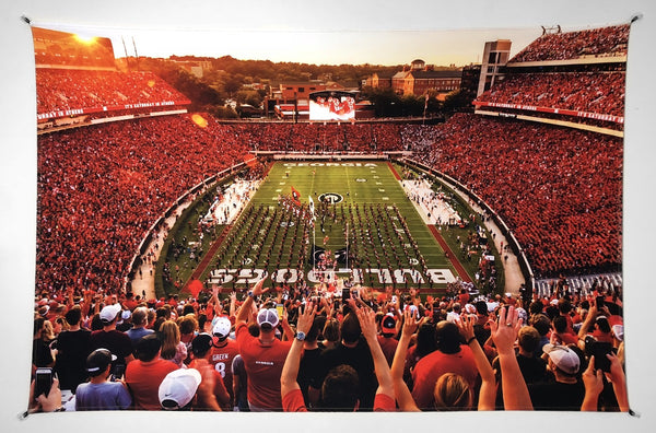 UGA Georgia Bulldogs Art: Saturday in Athens Sanford Stadium Tapestry Photo Print - 2XL & 3XL Sizes