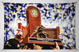 UGA Georgia Bulldogs Art: 2017 SEC Championship Trophy Photo Tapestry Print - 2XL & 3XL Sizes