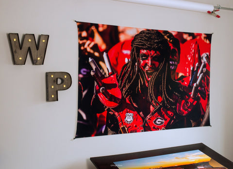 "UGA Georgia Bulldogs Art: ""Spike Squad"" Savage Tapestry Photo Print - 2XL & 3XL Sizes"