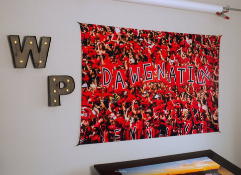 UGA Georgia Bulldogs Art: Dawgnation Tapestry Photo Print - 2XL & 3XL Sizes