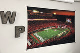 UGA Georgia Bulldogs Art: Dawgs vs Notre Dame in Sanford Stadium Tapestry Poster Wall Art Photo - 2XL & 3XL