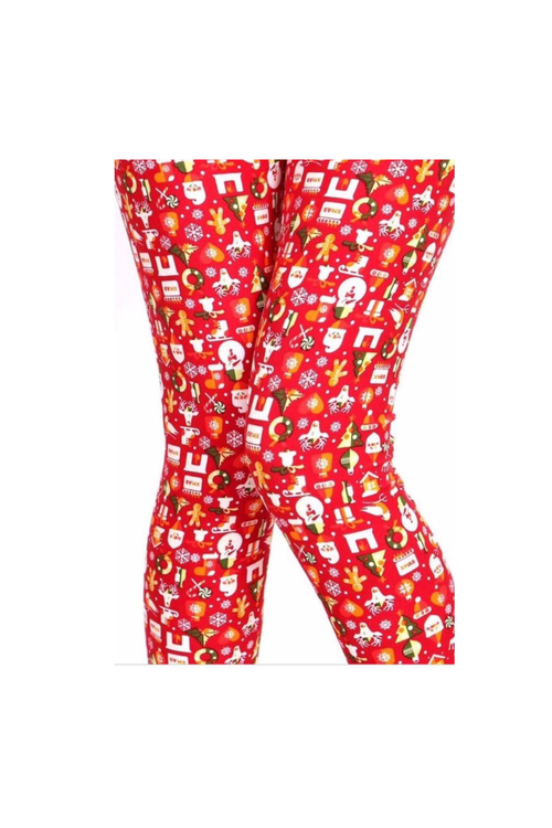 LEGGING ONESIZE CHRISTMAS MORN (4 LEFT)