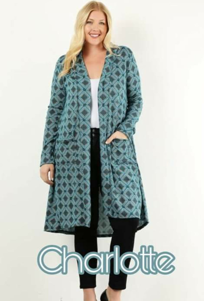 Women's Charlotte Green  Cardigan Small (one left)