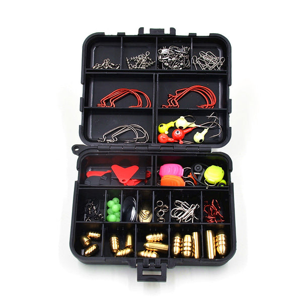 128 Pcs /Set 20 Types Lure Fishing Accessories Tackle Box