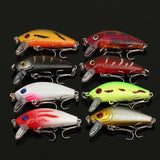 Hot Sale 56PCS Mixed Models Fishing Lures Set 56 Color Minnow Lure Crank Baits Tackle Treble Hooks Kit