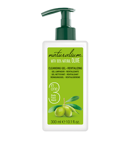 Revitalizing 3 in 1 Cleansing Gel with Spanish Natural Olives by Naturalium