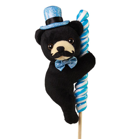 "5"" Dapper Black Bear on Candy Pop"