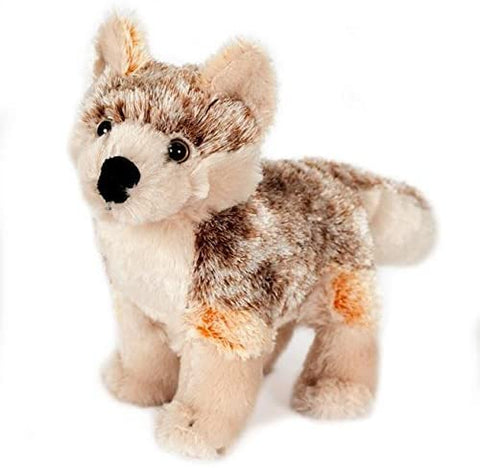 "Wishpets Stuffed Animal - Soft Plush Toy for Kids - 8"" Standing Red Wolf"