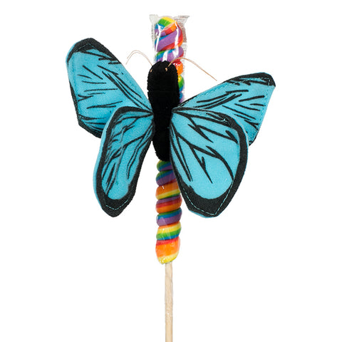 "4"" Blue Butterfly on Candy Pop"
