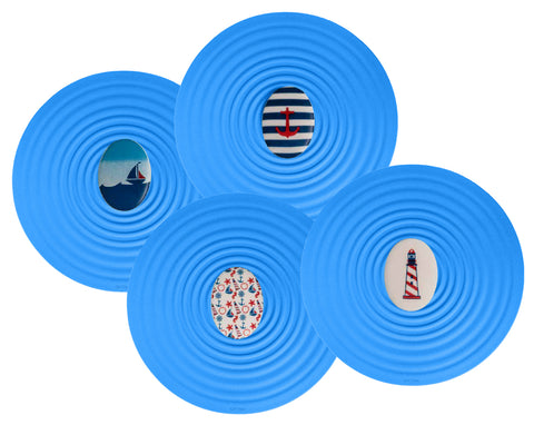 OnTopz Silicone Container Toppers with Nautical Theme Pebble