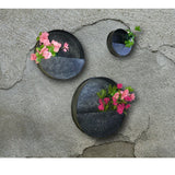 Rustic Tin Circle Hanging Wall Planters | Made for Home Plants, Succulents, Flowers | Kauri Design