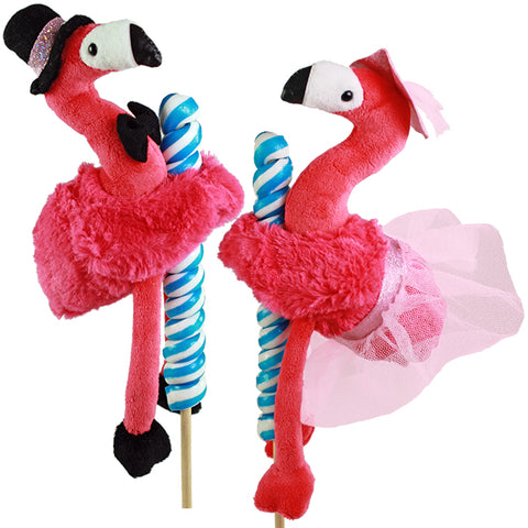 "5"" Dapper Flamingos on Candy Pop, 2 Asst"