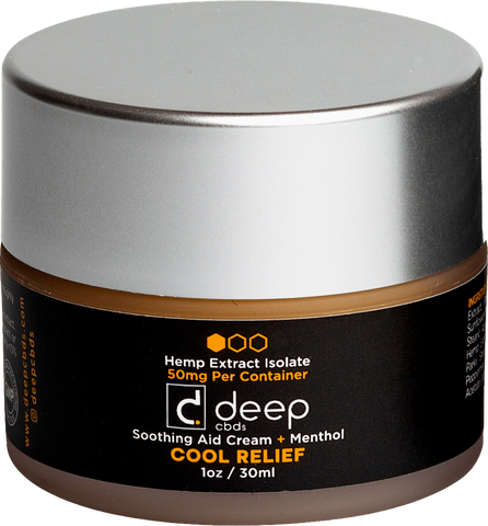 DeepCBDs Cool Relief Soothing Aid Cream