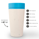 Circular&Co. Travel Mug (12oz) – The World's First Reusable Mug Made from Recycled Coffee Cups, 100% Leak-Proof, Sustainable & Fully Insulated