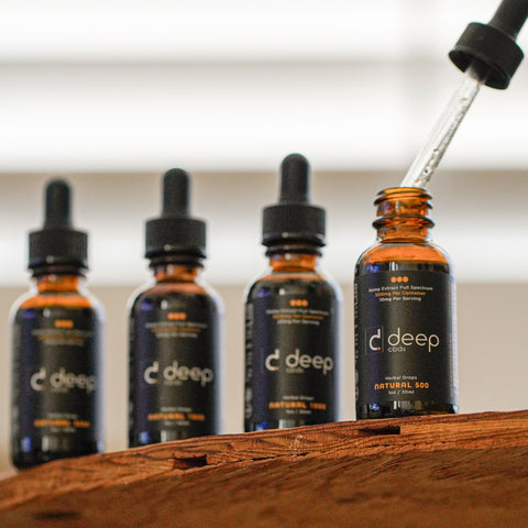 DeepCBDs Hemp Extract Full Spectrum Oil Drops