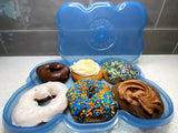 DONUT FRESH KEEPER CASES - HOLDS 6 FRESH DONUTS & AIRTIGHT STORAGE
