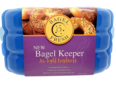BAGEL FRESH KEEPER CASES - HOLDS 6 FRESH BAGELS & AIRTIGHT STORAGE