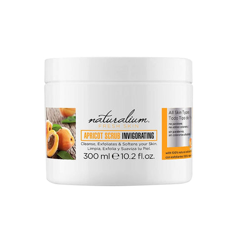 Natural Face Scrub by Naturalium - Apricot Scrub Jar