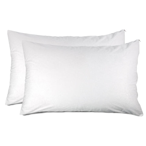 Luxury Noiseless Zippered Pillow Protector by Nindra Bedding