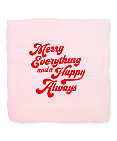 "Cocus Pocus - Merry Blanket-50""x 60"" Holiday Throw Blanket Pink Christmas Decoration"