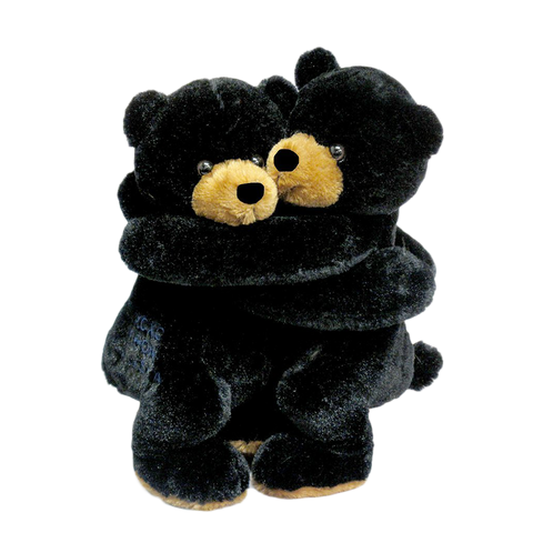 "Wishpets 10"" Hugging Black Bears Stuffed Plush Toy"