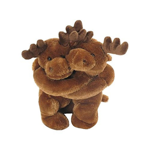 "Wishpets 10"" Hugging Moose Stuffed Plush Toy"